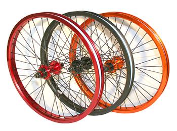 roue bmx de couleur